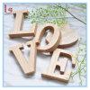 Cartas de madera decorativas caseras respetuosas del medio ambiente del alfabeto 3D de la alta calidad pequeñas