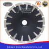 het 180mm Gesinterde Concave Blad van de Zaag van het Graniet van het Blad Scherpe met T Gestalte gegeven Segment