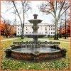 Дешевые фонтаны воды камня головки льва для напольного сада Mf1704