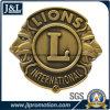 La moneta in lega di zinco del metallo della pressofusione con il marchio del leone 3D