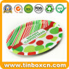 Servindo de metal redonda bandejas de estanho para alimentos à base de frutas
