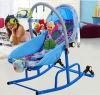 실내 가구 파란 색깔 아기 그네 의자