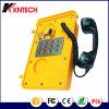 Teléfono de la prueba del tiempo del teléfono de la explotación minera del telclado numérico Knsp-11 del metal