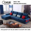 青いファブリックソファーのホテルの居間の現代寝室の家具Fb1149