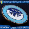 Insigne de forme ronde pour le Pin fait sur commande de revers en métal de cadeau