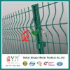 Frontière de sécurité soudée verte incurvée Qym-Soudée de treillis métallique