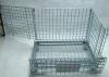 Складные оцинкованный поддон промышленных наращиваемые проволочной сетке отсек для хранения