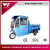 Cargamento grande 500kg Hybird de Cabine eléctrico/triciclo de la gasolina con el capo motor