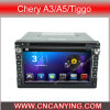 Chery A3/A5/Tiggo (AD-7021)のためのA9 CPUを搭載するPure Android 4.4 Car DVD Playerのための車DVD Player Capacitive Touch Screen GPS Bluetooth