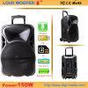Haut-parleur à piles portatif bon marché de chariot avec USB/SD/FM/Bt