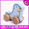 2015 förderndes Kids Wooden Pull und Push Toy, Hot Sale Drücken-ziehen Wooden Toys, Cartoon Funny Wooden Pull Back Animal Toy W05b079
