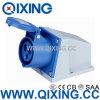 Spina industriale blu e zoccolo dell'en 60309 16A 230V