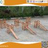 Hinterhof-hölzerner kletternder Rahmen für Kinder