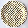 Placas de papel del vajilla del partido del oro de la hoja de la venta al por mayor de la muestra libre