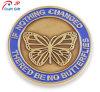 Moneta di prova rotonda personalizzata del reticolo di farfalla di doratura elettrolitica di alta qualità