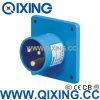 Qixingの企業のパネルによって取付けられるプラグ230V 16A 3p 6h IP44
