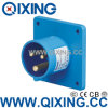 Plugue montado painel 230V 16A 3p 6h IP44 da indústria de Qixing