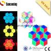 Hexagon 3D LED Wall Screen Restaurante Hotel Iluminación Decoración