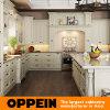 Wit L Shape Houten keukenkast met Island (OP15-S05)