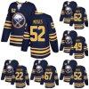 Una gioventù Buffalo Sabres 52 Steve Moses 62 Brandon Hagel delle a buon mercato 2018 nuove di marca dell'annuncio donne del Mens 49 pullover su ordinazione blu del hokey di Cj Smith Pouliot Larsson