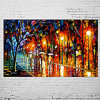 Pittura a olio Handmade Modern Landscape Knife Picture su Canvas Street View Art