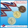 Medaglia su ordinazione di sport della medaglia 3D del metallo con il nastro