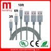 V8 Micro- USB Nylon Kabel voor Samsung  Grijs