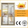 Ясное стекло сползая тип алюминиевые двери (SC-AAD017)
