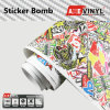 Graffiti Sticker Bomb Vinyl Wrap Film 1.52X30m di Axevinyl Factory Direct Sale Car Wrap Vinyl Premium Quality