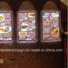 Het muur Opgezette LEIDENE Uithangbord van het Menu