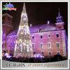 Luz plástica do feriado da decoração do diodo emissor de luz da árvore de Natal do projeto automático