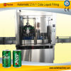 2400cph 자동적인 음료 깡통 채우는 밀봉 기계