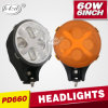 Wrangler Accessories 60W fuori da Road LED Headlight per Jeep (PD6060)