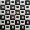 Mosaïque en céramique classique blanche de mélange noir carré creux (CST189)