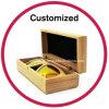 O logotipo personalizado caso óculos de sol de bambu de madeira