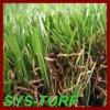 잔디를 정원사 노릇을 하는 암갈색 꼬부라진 털실