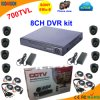 8 Manica DVR Kit con SONY 700tvl Dome Camera