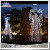 Lumière de Noël blanche de rue de décoration de cornière en métal extérieur