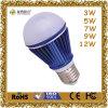 12W Ce Certificated LED Bulb van Aluminum en van Plastic E27 Base