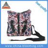 La tela di canapa su ordinazione della maniglia della chiusura lampo della spalla di svago trasporta il sacchetto di Tote