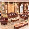 ホーム家具(929S)のための木製のソファーフレームが付いている革ソファー