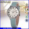 Reloj vendedor caliente de las señoras del cuarzo de la correa de cuero del ODM (Wy-098C)