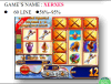 La scheda del gioco delle slot machine della macchina del video gioco di Xerxes