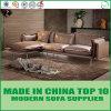 Modernes Wohnzimmer-Möbel-Leder und Gewebe-Feder-Freizeit-Sofa