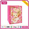 Rosa profunda la tarjeta blanca precioso bolso de bebé de papel