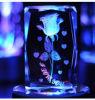Grabado 3D del laser del cubo del vidrio cristalino