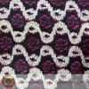 Tecido químico bordado de rendas de algodão e algodão (M0502)