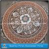 Teste padrão Waterjet de pedra de mármore natural do mosaico, telhas de assoalho do medalhão do mosaico