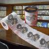 Roulis estampé fait sur commande de tissu de salle de bains de papier de toilette humain