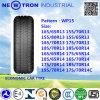 Neumáticos chinos del vehículo de pasajeros de Wp15 155/80r13, neumáticos de la polimerización en cadena